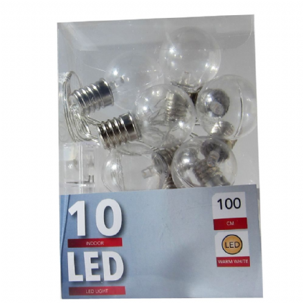 LED  Clear Bulb String Lights- 30mm   - String of 10